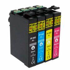 4 CARTUCHOS COMPATIBLES CON EPSON 603 XL 1 NEGRO 1 MAGENTA 1 CIAN 1 AMARILLO