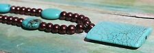 Faux-Turquoise, Copper Bead Necklace