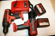 "SNAP-ON TOOLS 1/2"" CORDLESS IMPACT WRENCH, HAMMER DRILL DRIVER SET + 2xBATTERIES"