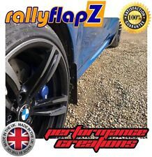4mm PVC rallyflapZ Blue Logo Orange Rally style Mudflaps PEUGEOT 206 Mud Flaps