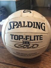 Vintage Spalding Top-Flite 18 GOLD Leather Beach Volleyball