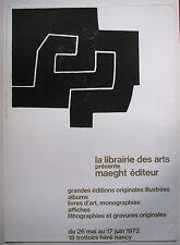 CHILLIDA  EDUARDO , 1924 -2002 SAN SEBASTIAN . LITHOGRAPHIE / PLAKAT 1972 .