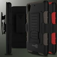 Combo Holster Belt Clip Hybrid Phone Cover Case for HTC Desire 626 / 626S