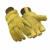 RefrigiWear Warm Fleece Lined Fiberfill Insulated Pigskin Leather Work Gloves