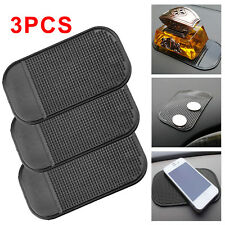 3 x Car Anti Slip Mat Pad Dashboard Mobile Phone GPS Sticky Holder Black New