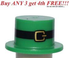 ☀️NEW Lego Boy/Girl Minifig Hat GREEN Leprechaun Top Hat St Patricks Day