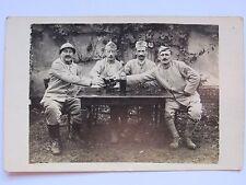 05D47 CARTE PHOTO PORTRAIT GROUPE DE POILU 109 e RA ARTILLERIE LOURDE 14/18 WWI