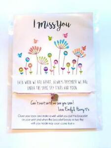 Stay Safe Bee Positive I Miss You Friendship Wish Bracelet  Isolation Gift