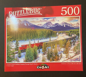 Jigsaw Puzzle CraZart 500 Pieces - Canadian Railway - Train and Mountains (NEW)