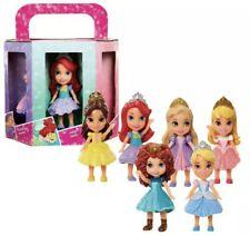 Disney Princess 3 inch 6 Mini Doll Pack - Ariel Belle Rapunzel Merida Cinderella