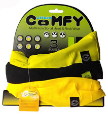 Oxford Comfy Verde Nero Giallo 3-pack NW116 Testa e Indumento per il Collo