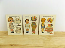 Vintage Dolly Dingle Paper Doll Postcards by Grace G Drayton Lot of 3