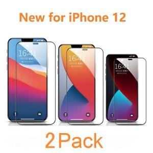 2x FULL Cover 21D iPhone 12 Pro Max Mini Panzerfolie Schutz Display Hart  9H