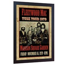 Fleetwood Mac Art print concert poster old vintage signed FRAMED