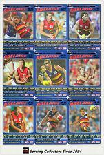 2006 AFL Teamcoach Tradinging Card Blue Platinum Team Set Adelaide (10)