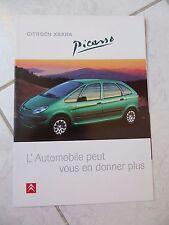 Citroen Xsara Picasso 1998 12p ventas folleto prospekt catálogo