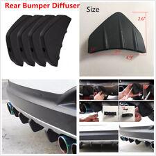 4pc Universal Car Rear Bumper Diffuser Molding Shark Fin Spoiler Protector Cover