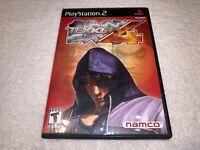 Tekken 4 (Sony PlayStation 2, 2002) PS2 Black Label Complete Excellent!