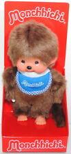 Monchhichi 255040 Standard Boy Blue Bib (Junge mit blauem Latz), 20 cm Sekiguchi