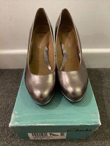 Clarks Softwear Wide Fit Womens Heeled Shoes UK 5.5 E / EUR 39