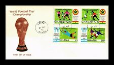 DR JIM STAMPS WORLD FOOTBALL CUP CHAMPIONSHIP FDC GHANA MONARCH SIZE COVER