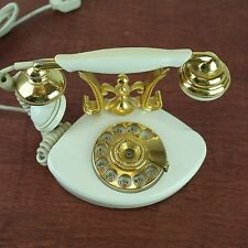 1972 French Rotary Desk Phone: Countess Made in Japan: Vintage Unique Prong