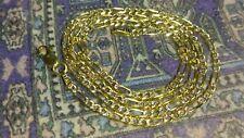 "Heavy 14k gold Italian figaro chain 4.43 grams 16"" long 2.4mm"
