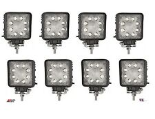 8 PCS SQUARE WATERPROOF 27W 9 LED WORK FOG SPOT LIGHT OFFROAD JEEP CAR 12V/24V