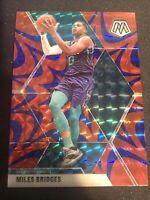 Miles Bridges Mosaic 19-20 #82 Reactive Blue Mosaic Prizm Charlotte Hornets