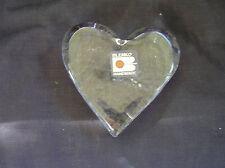 Blenko Glass Heart Paperweight w/ Sticker