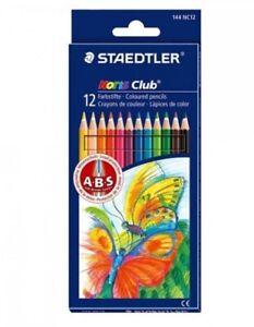 12 x Staedtler Noris Club Colouring Pencils pastel watercolour Anti-break leads