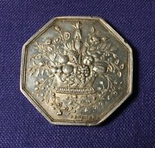 FRANCE 1865 SOCIETY OF HORTICULTURE OCTAGONAL SILVER MEDAL 29 MM BY BESCHER
