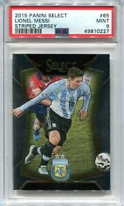 2015-16 Select 65 Lionel Messi Striped Jersey PSA 9 MINT