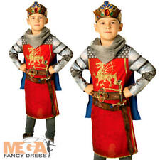 King Arthur Boys Fancy Dress Royal Medieval Knight Book Day Child's Kids Costume