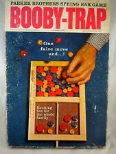 Booby Trap Parker Brothers Spring Bar Action Family Game Vintage 1965 Wooden