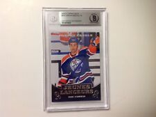 Jordan Eberle Signed 2010/11 French Young Guns RC Card Slabbed Beckett BAS BGS a