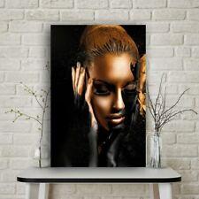 Oro Negro Mujer Desnuda Arte Africano pintura al óleo sobre lienzo de impresión De Pared Decoración Hogar