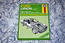FORD ORION (4 Cylinder petrol) 1983-90 Haynes Manual 1009 EXCELLENT CONDITION!
