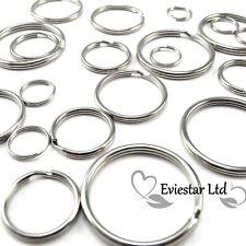 More details for choose small - extra large keyring split rings steel hoop loop key holder, krs