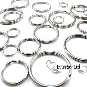 CHOOSE SMALL - EXTRA LARGE KEYRING SPLIT RINGS Steel Hoop Loop Key Holder, KRS