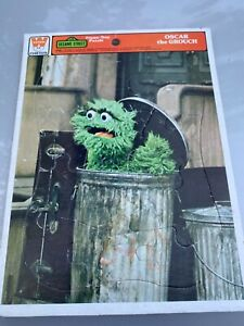 Vintage Framed Puzzle Whitman Oscar Sesame Street