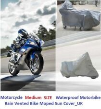 Motorcycle Cover Waterproof Motorbike Rain Vented Bike Moped Sun Cover Silver_UK