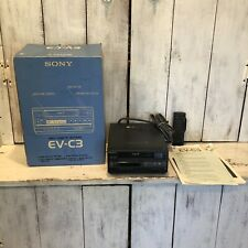 SONY EV-C3 8mm Video8 NTSC VCR Editing Player Video Cassette Recorder For Parts