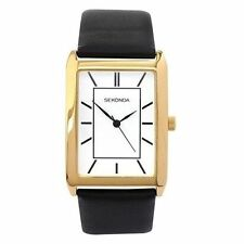 Gold Plated Strap Rectangle Not Water Resistant Wristwatches