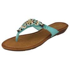 Calzado de mujer sandalias con tiras de color principal azul Talla 36.5