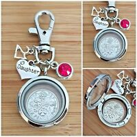 LUCKY SIXPENCE BIRTHDAY KEYRING  for Daughter Sister Niece Cousin 21st 18th 16th