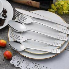 40 Piece Flatware Set Service for 8 Kitchen & Dinner Night Party Full Tableware