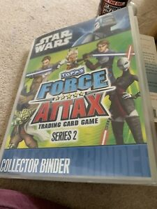 Topps Force Attax Star Wars Series 2 COMPLETE Set With Binder