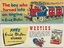 WEETIES AUSTRALIA CEREAL GIVEAWAY PROMO ENID BLYTON BOY WHO TURNED TO ENGINE NM