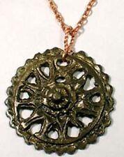 AD300 Ancient Roman Provincial Antiochia Bronze Sunburst Floral Motif Pendant